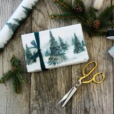 Winter Forest Wrapping Paper Eco-friendly by WrapAndRevel on Etsy