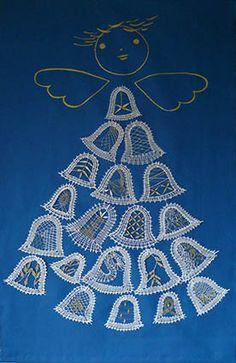 nové soutěže Lace Making, Bobbin Lace, Stars, Christmas, Angeles, Decorating, Inspiration, Crochet, Christmas Balls