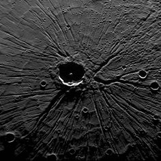 "Mercury's Pantheon Fossae ""The Spider"" as observed by the MESSENGER spacecraft."