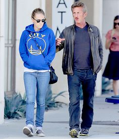 Sean Penn Steps Out With Daughter Dylan Penn After Charlize Theron Split Sean Penn, Charlize Theron, Celebrity News, Pop Culture, Bomber Jacket, Daughter, Celebrities, Cats, Jackets