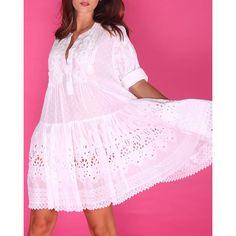 Shop - Antica Sartoria Ibiza Fashion, The Dress, Ibiza Style, Dresses With Sleeves, Long Sleeve, Casual, Lab Coats, Beachwear Fashion, Made By Hands