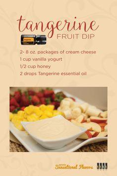 Tangerine Fruit Dip with Tangerine essential oil
