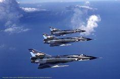 "Dassault Mirage IIIO(F)s A3-89, A3-87, A3-92 of RAAF 3Sqn ""Lizards"""