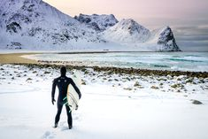 Surfing in the Arctic