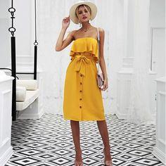 2e4f90dc5f7 The Emma Off Shoulder Button Up Dress