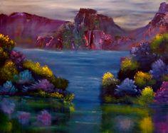 """David Snider; Oil 2013 Painting """"Hudson Valley"""""""