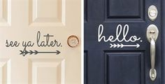 $3.99 - Vinyl Front Door Decals | 10 Designs! - http://www.pinchingyourpennies.com/3-99-vinyl-front-door-decals-10-designs/ #Frontdoorsayings, #Pinchingyourpennies, #Zulily