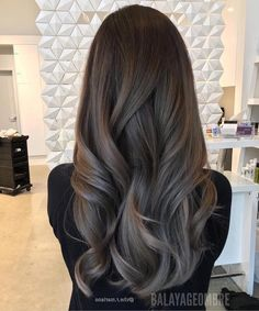 Ash brown hair, hair color for brown skin, hair highlights, hair color balayage Brown Ombre Hair, Ombre Hair Color, Hair Color For Black Hair, Dark Hair, Grey Ombre, Subtle Ombre, Brown Blonde, Shiny Hair, Hair Colour