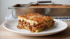 Greek Moussaka with Zucchini (Recipe) Eggplant Moussaka, Cheese Potatoes, Tomato Vegetable, Vegetable Stock, Panini Grill, Other Recipes, Lasagna, Lasagne