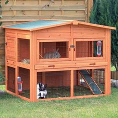 Shop for Lovupet Wooden Rabbit Hutch Small Animal House Pet Cage Coop Blue. Get free delivery On EVERYTHING* Overstock - Your Online Small Animal Supplies Store! Get in rewards with Club O! Large Rabbit Hutch, Outdoor Rabbit Hutch, Rabbit Hutches, Rabbit Cages Outdoor, Guinea Pig House, Guinea Pigs, Outdoor Cat Run, Bunny Hutch, Small Animal Cage