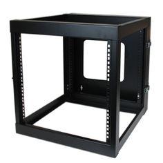 Startech.Com 12U 22-Inch Hinged Open Frame Rack Cabinet Wallmount Server Rack Components Rk1219walloh, Black, 2015 Amazon Top Rated Studio Environment #PersonalComputer