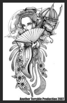 Geisha and her samurai by terryrism.deviantart.com on @deviantART