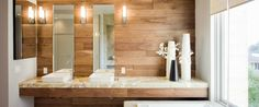 Today we are going to talk about a hot, trending topic: furnishing Luxury Bathrooms with wood details, like counters, shelves, washbasin and more. Stay tuned.