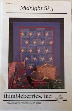 Thimbleberries Midnight Sky Quilt Pattern Quilting Stars Rustic Bed Uncut New  | eBay