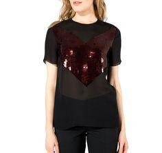 Jason Wu | Combo Sequin Tee Shirt | ModeWalk