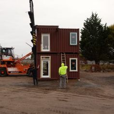 Relevant Buildings in Canby Oregon designs and builds beautiful energy efficient homes out of shipping containers. Take a look at our process and call us at to schedule your tour of our container homes. Canby Oregon, Container Cabin, Energy Efficient Homes, Shipping Container Homes, Cabins, Building A House, Shed, Outdoor Structures, Architecture