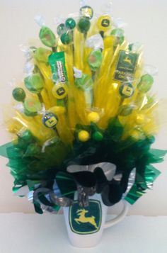 JOHN DEERE Candy Bouquet In a John Deere Ooak by CandyFlorist, $23.95