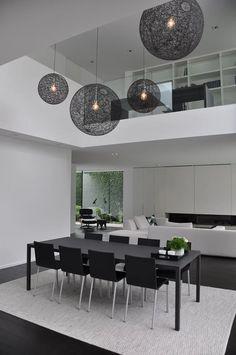 46 Amazing Contemporary Modern Dining Room Design Ideas - Trend Home Contemporary Home Decor, Modern Interior Design, Contemporary Design, Dining Room Lighting, Dining Room Design, Dining Rooms, Dining Tables, Design Case, House Ideas