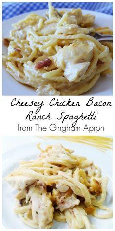 Cheesy Chicken Bacon Ranch Spaghetti
