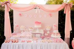 Ballet party dessert table