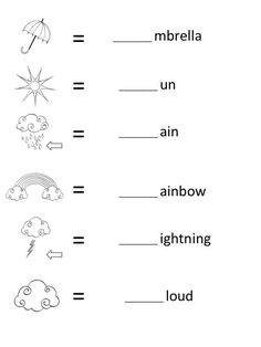 At the preschooler age kids should still be spending plenty of time in play but these FREE beginning sounds letter worksheets for early learners are. Lkg Worksheets, Weather Worksheets, Spelling Worksheets, Literacy Worksheets, Beginning Sounds Kindergarten, Beginning Sounds Worksheets, English Worksheets For Kindergarten, Nursery Worksheets, Alphabet Worksheets