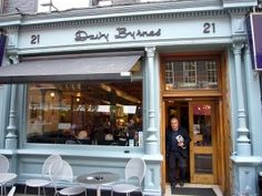 "Davy Byrnes Pub ""He entered Davy Byrne's. Moral pub.""  Bloom stopped here for lunch – a gorgonzola sandwich and a glass of Burgundy wine. The pub is still going strong and you can order the same lunch to-day, but it will cost you a lot more than Leopold Bloom paid!  Look out for another plaque set in the pavement outside."