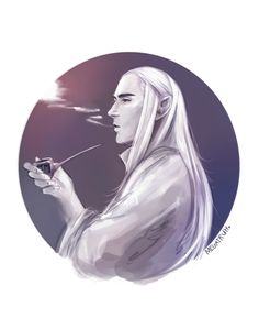 Thranduil!? Drinking, now smoking, what's next? Gambling? Shame on you, mister!!!