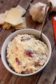 Garlic Parmesan Red Skin Mashed Potatoes