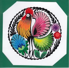 Polish traditional paper cut-out made by hands in Łowicz Paper Cutting, Folk Art, Polish, Hands, Traditional, Tableware, Handmade, Manualidades, Templates