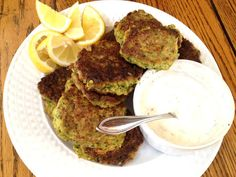 Zucchini Fritters with Spring Onion and Cayenne (serve with sour cream)