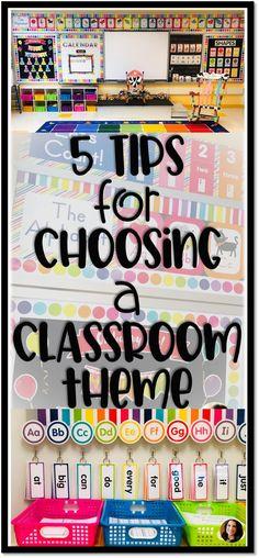 My Top 5 Tips for Choosing a Classroom Theme - Kindergarten Korner