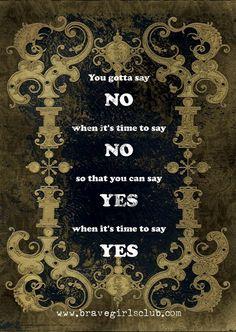 Yes vs. no via bravegirlsclub.com