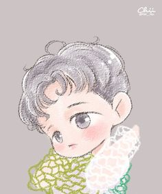 Lucky One - Baekhyun Fanart Cr: Chii___iihc Baekhyun Fanart, Kpop Fanart, Exo Lucky One, Exo Cartoon, Exo Kokobop, Sehun, Exo Album, Exo Fan Art, Cute Chibi