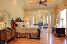 Great bedroom from Tuscan estate
