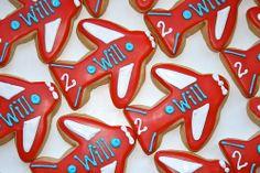 Airplane Birthday Cookies