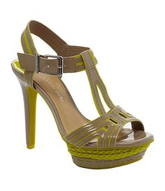 Gianni Bini Genesis Geometric Sandals - 4 color options - SO cute Crazy Shoes, Me Too Shoes, Summer Heels, Green Shoes, Gianni Bini, Spring Shoes, Girls Best Friend, Dillards, Peep Toe