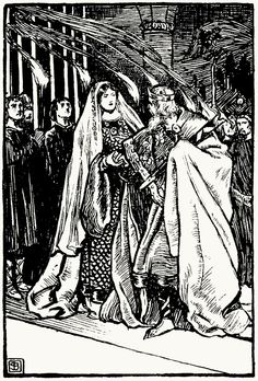 oldbookillustrations: Duncan and lady Macbeth. Byam Shaw, from Tales from Shakespeare, by Charles and Mary Lamb, London, 1914. (Source: archive.org) -- KWLT's 2013 production of Macbeth, directed by Jonathan C. Dietrich