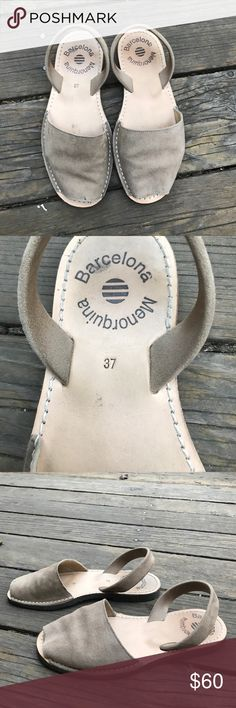 Sandals from Barcelona Sandals from the city of Barcelona! These are super authentic and have only been worn just a few times. They are size 37 but they fit 7.5 better Shoes Sandals
