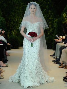 Get inspired: Adriana from Carolina Herrera (@HouseofHerrera), such a lovely #wedding gown!