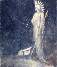 ~ George William Russell (1867-1935), A Spirit or Sidhe in a Landscape