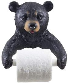 Decorative Black Bear Toilet Paper Holder Bathroom Wall Decoration for Rustic Cabin and Hunting Lodge Decor Sculptures As Unique Housewarming Gifts -- You can get more details by clicking on the image. (This is an affiliate link) Hunting Lodge Decor, Unique Housewarming Gifts, Bear Decor, Bathroom Wall Decor, Bathroom Stuff, Bathroom Small, Bathroom Ideas, Black Bear, Toilet Paper