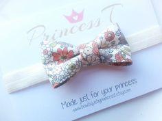 Girls/Baby Bow Headband Flower Fabric Bow by BowtiquebyprincessT