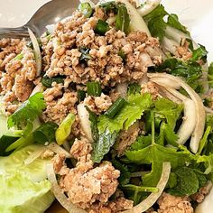 Larb gai from Thai Lao in Pearl City. #larb #thaifood #hawaiigrinds