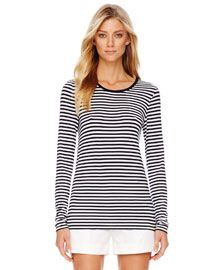 Striped long sleeve; great year round shirt