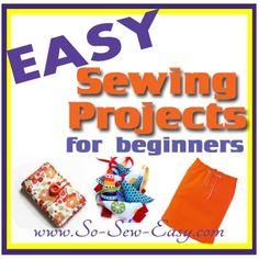 Never run out of ideas for things to sew with this collection of Easy Sewing Projects for beginners.