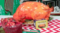 Wacky Holiday Gifts: Inflatable Turkey and Fruit Cake Holiday Gift Guide, Holiday Gifts, Wacky Holidays, Top Gifts, Turkey, Fruit, Funny Stuff, Christmas, Cake