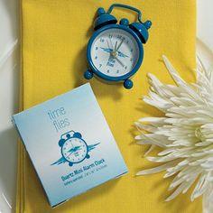 """Time Flies"" Miniature Classic Alarm Clock in Gift Box"