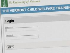 The University of Vermont: Web Application: Login Page