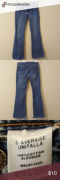 Arizona brand jeans Juniors size 5r Arizona brand jeans, these have been cut on the bottoms as shown in the 4th picture. Great jeans! Arizona Jean Company Jeans Boot Cut