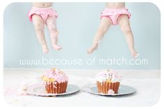 Smash Cake session - after the kid(s) make a mess, have someone hold them above the cake and snap a pic. <3 this
